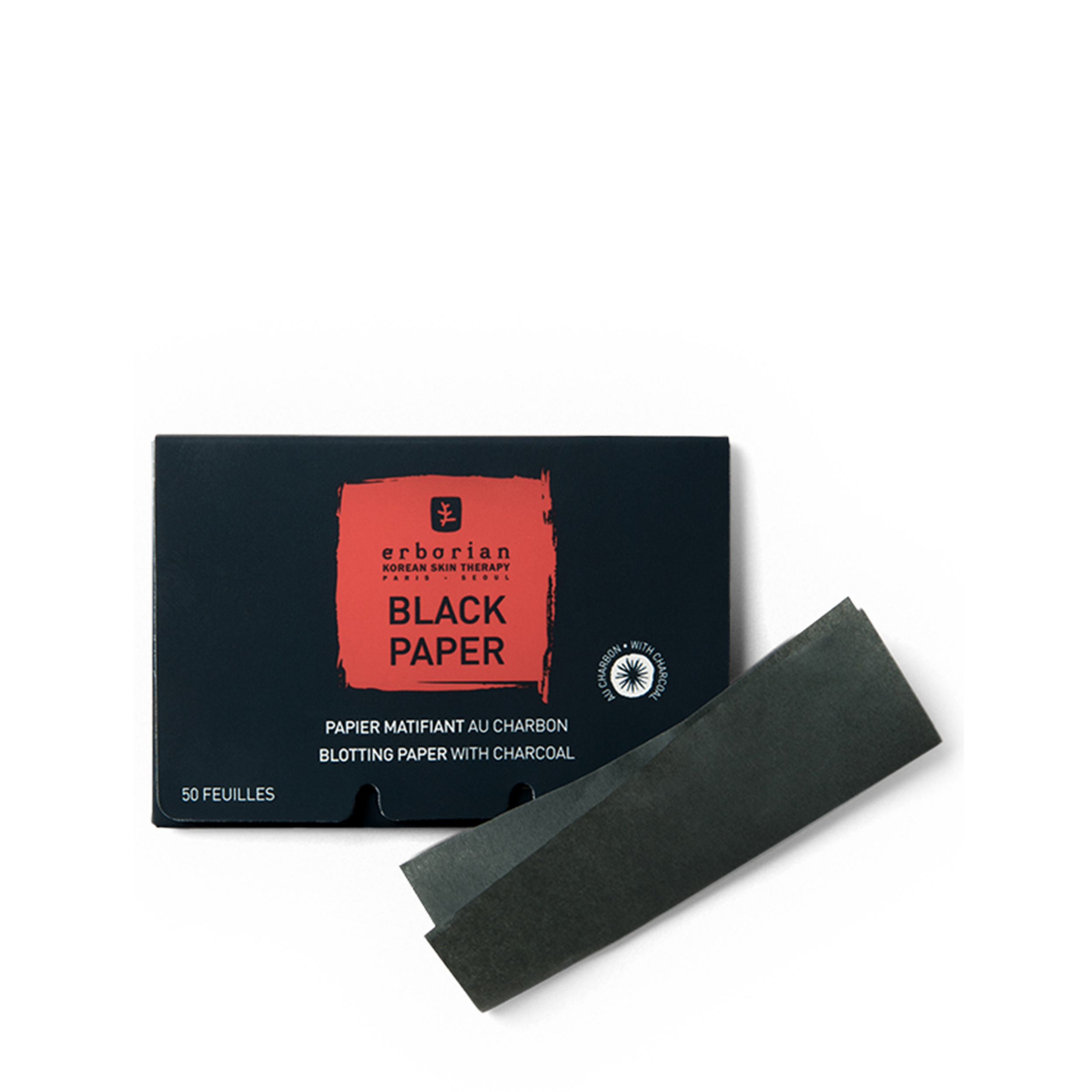 Купить Erborian Черные матирующие салфетки с углем