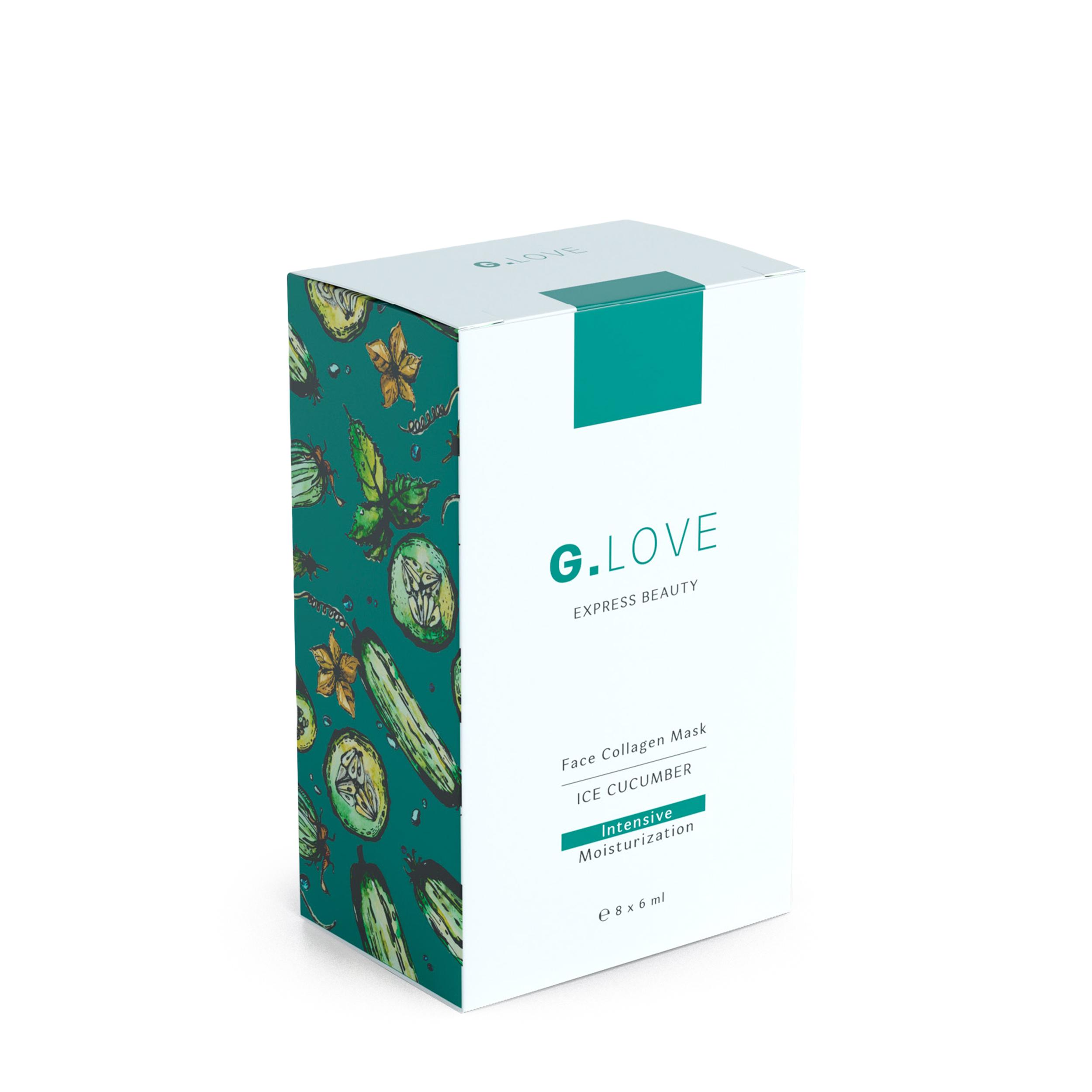 G.LOVE Коллагеновая маска для лица «Ice Cucumber» 8x6 мл фото