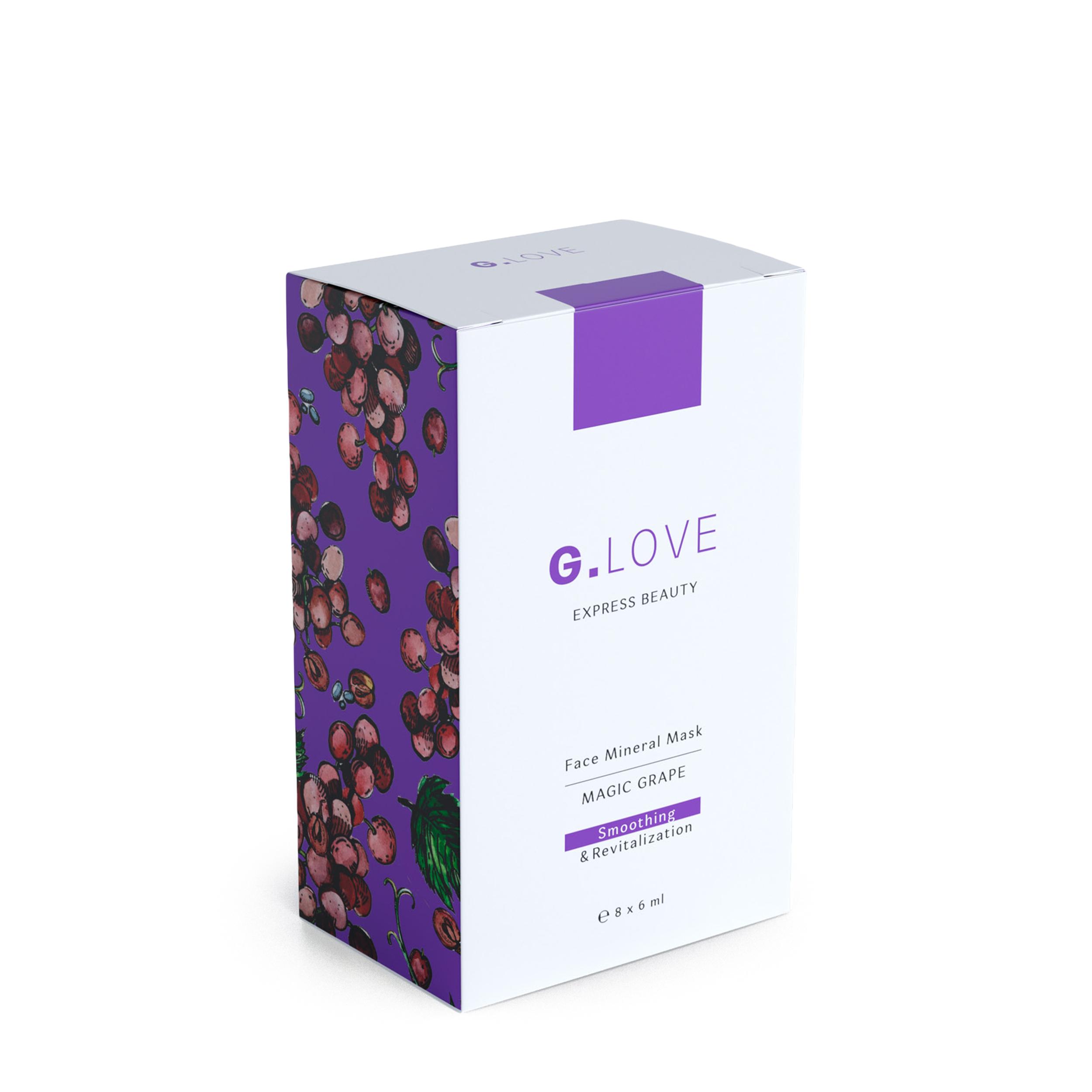 G.LOVE Минеральная маска для лица «Magic Grape» 8x6 мл фото
