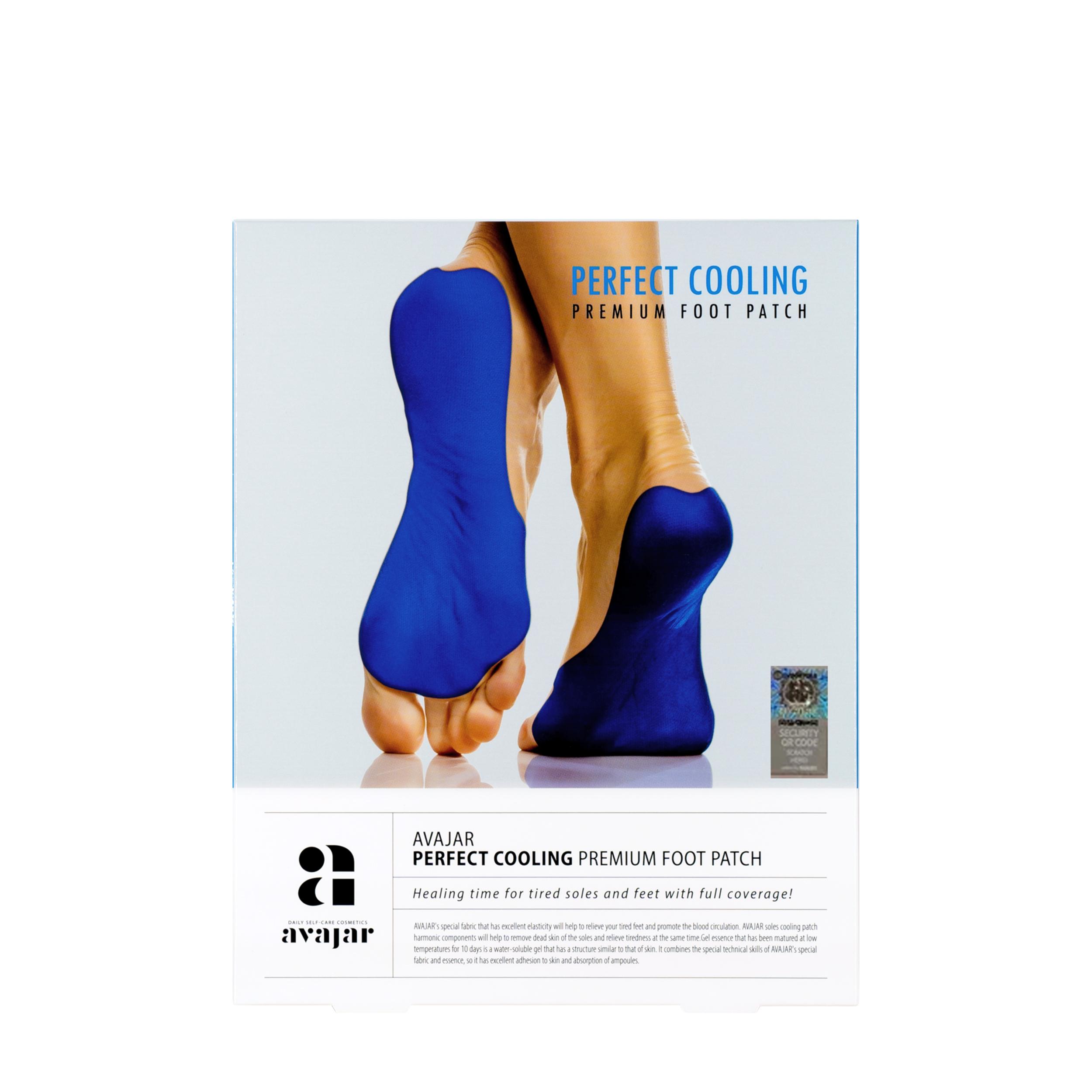 AVAJAR Охлаждающая маска для ступней с детокс-эффектом «Perfect Cooling» 1 пара фото