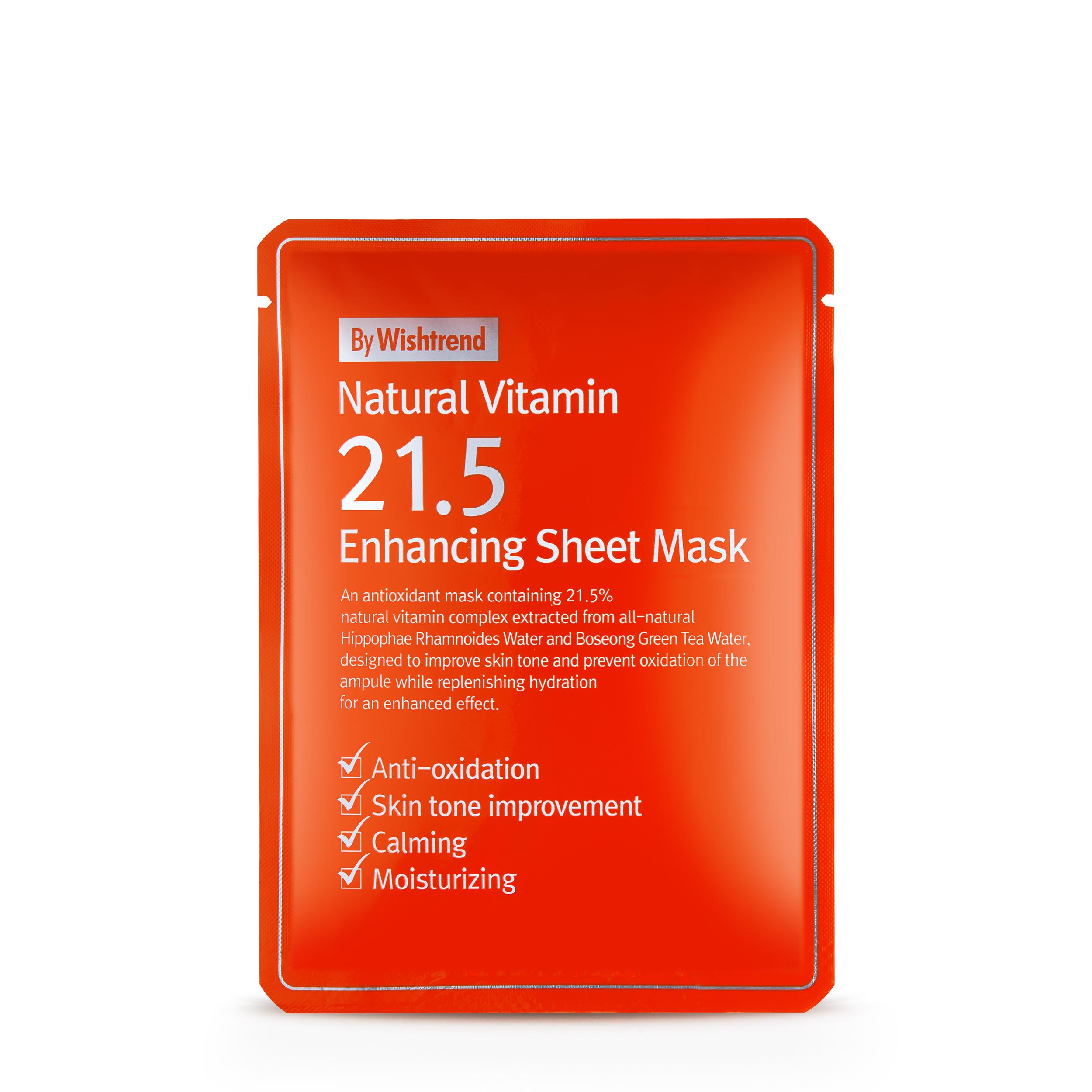 By Wishtrend Тканевая маска с витамином С 21.5% 0,21 мл фото