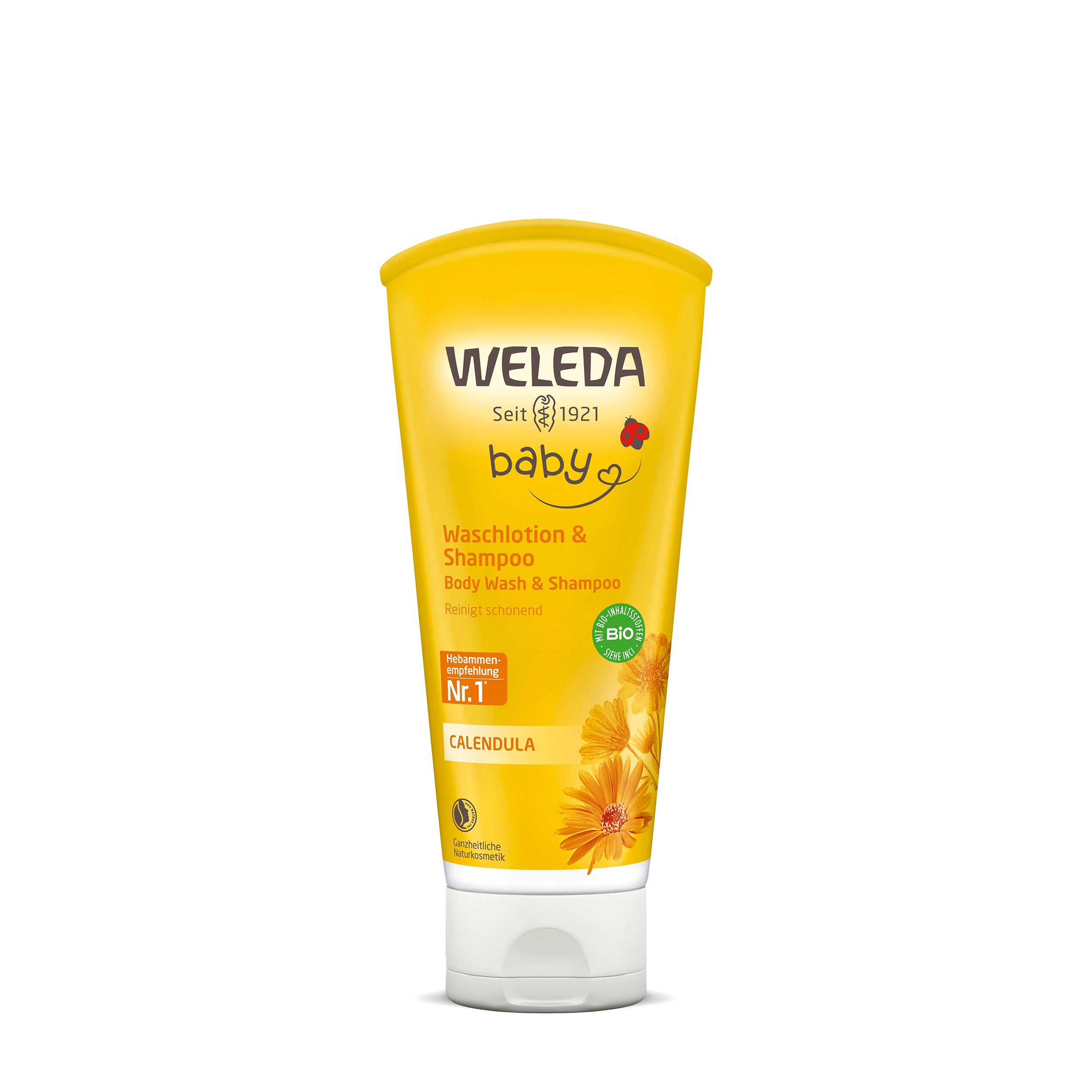 Купить Weleda Детский шампунь-гель с календулой для волос и тела 200 мл