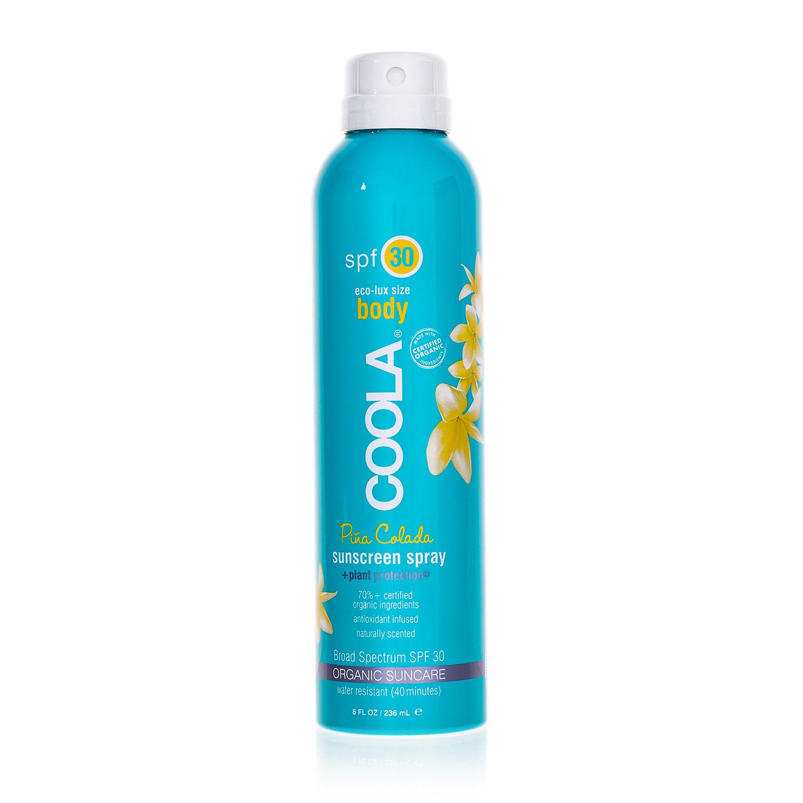 Купить COOLA Солнцезащитный спрей для тела «Pina Colada» SPF30 236 мл