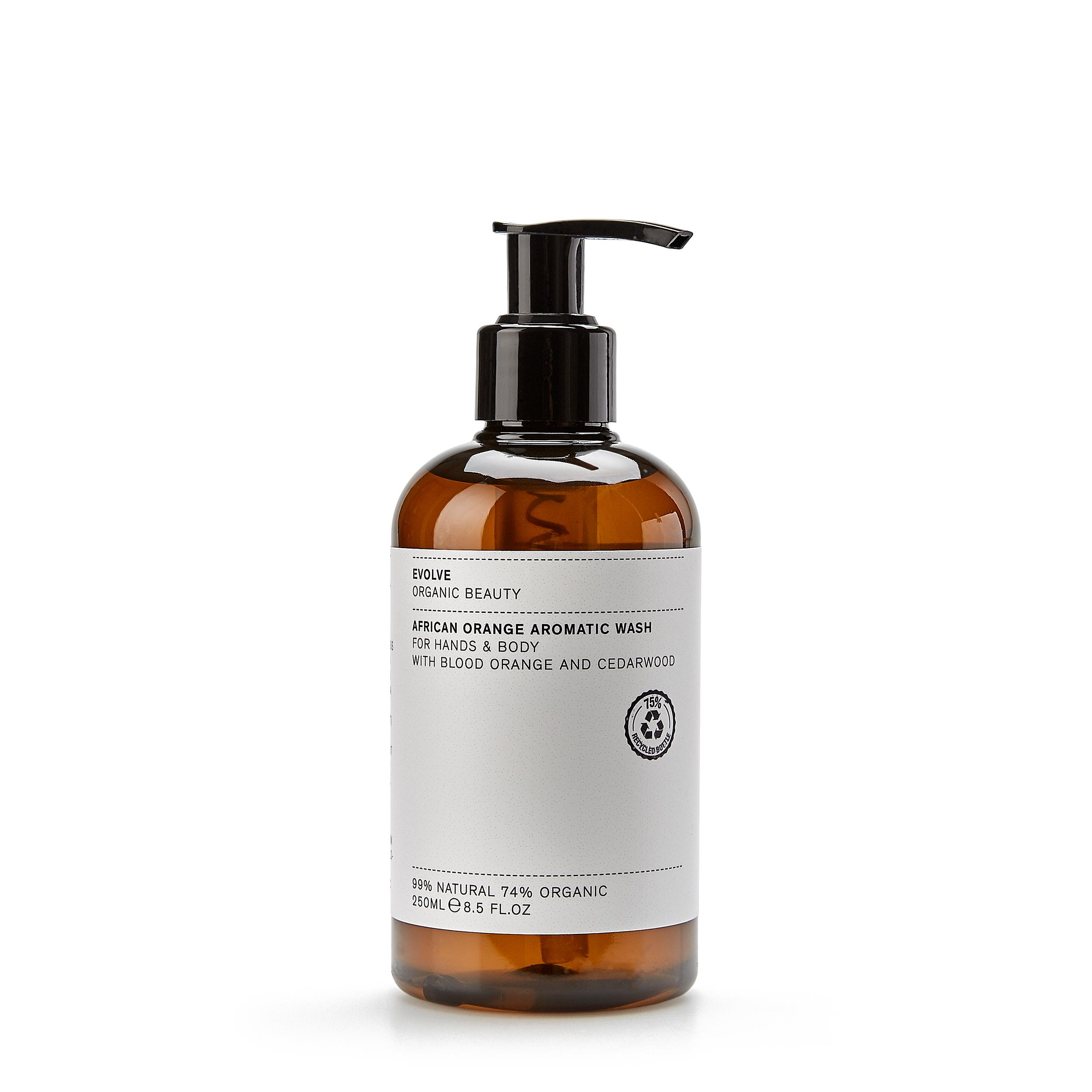 Купить Evolve Organic Beauty Очищающий гель для рук и тела «African Orange Aromatic Wash» 250 мл