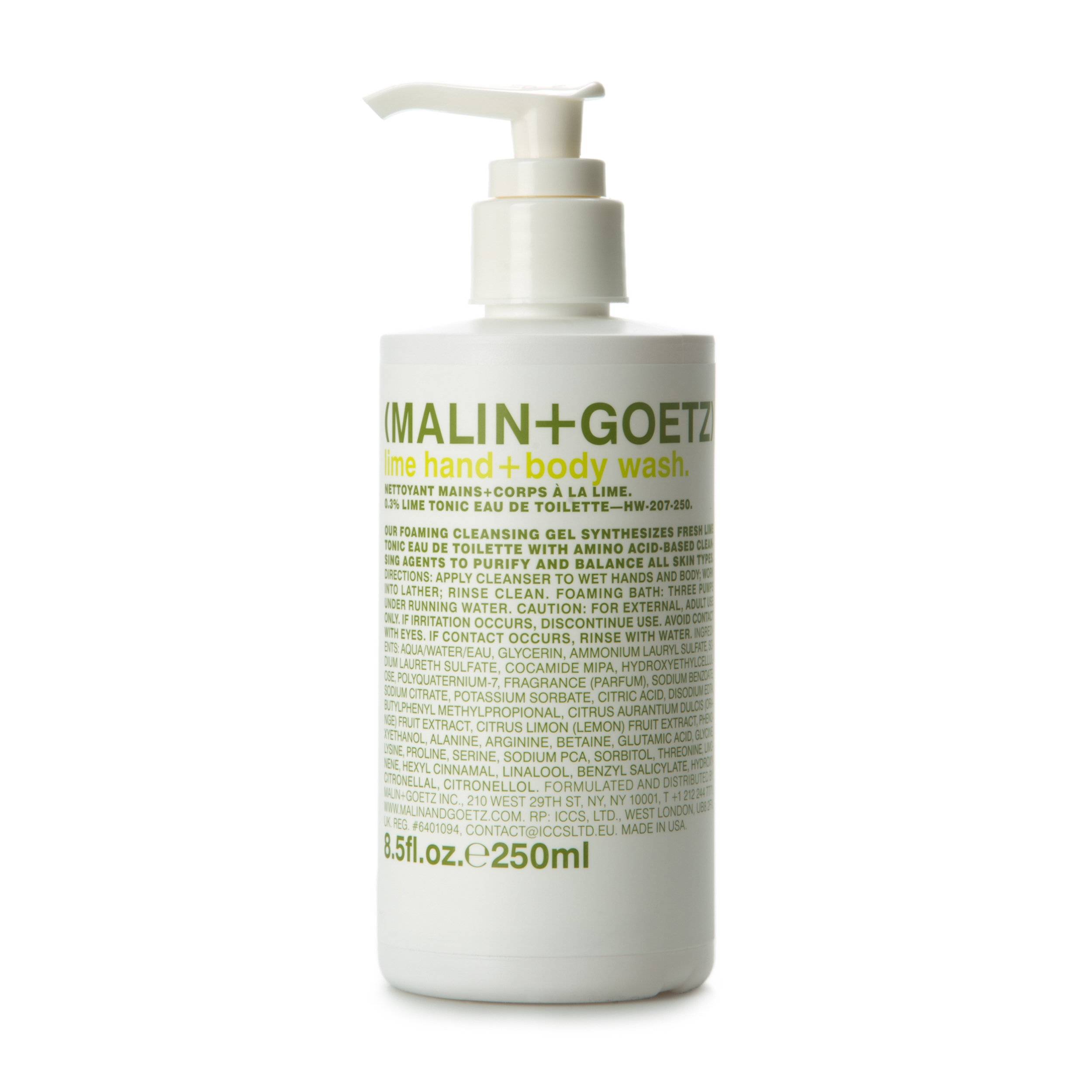 MALIN+GOETZ Гель-мыло для душа и рук «Lime» 250 мл фото