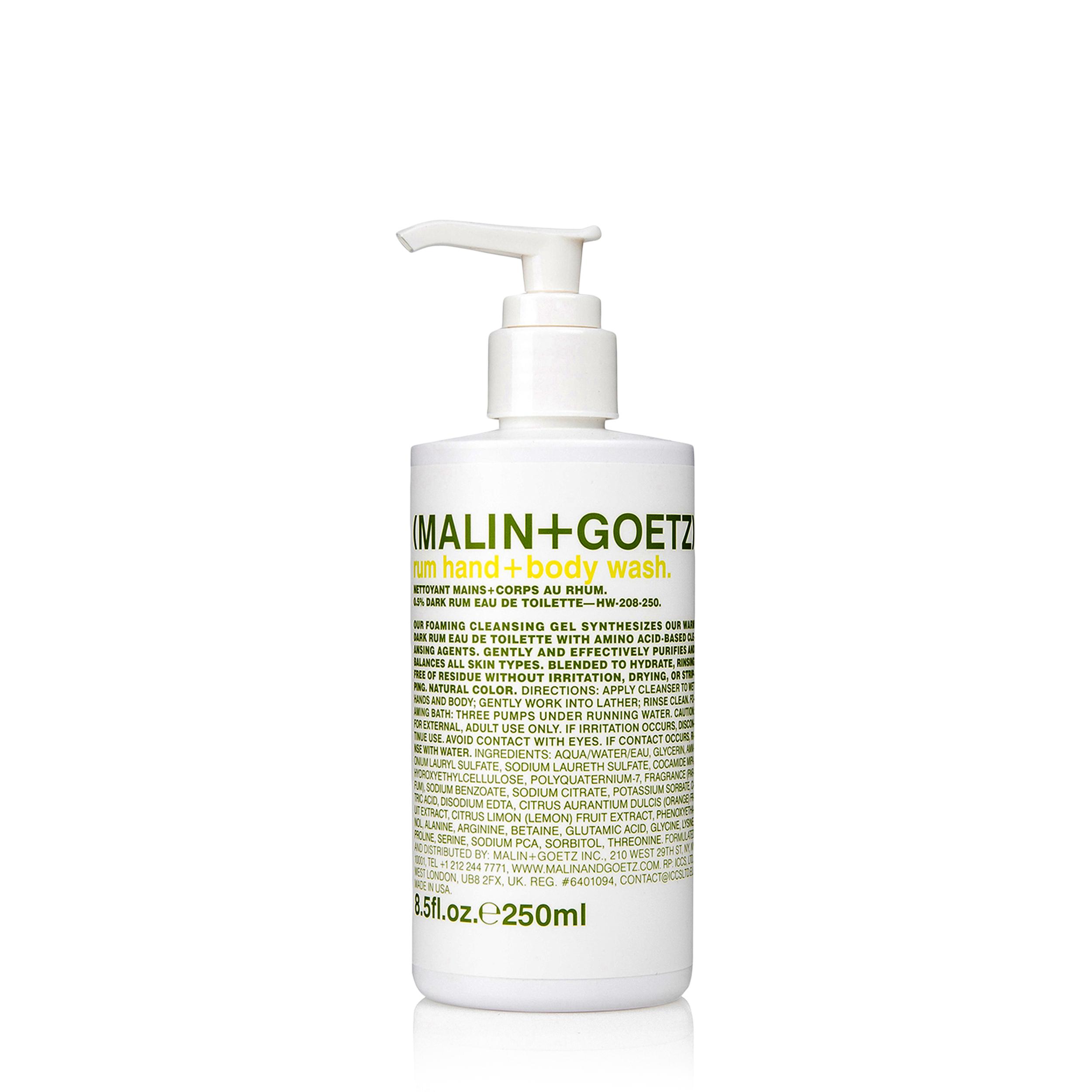 Купить MALIN+GOETZ Гель-мыло для тела и рук «Rum»