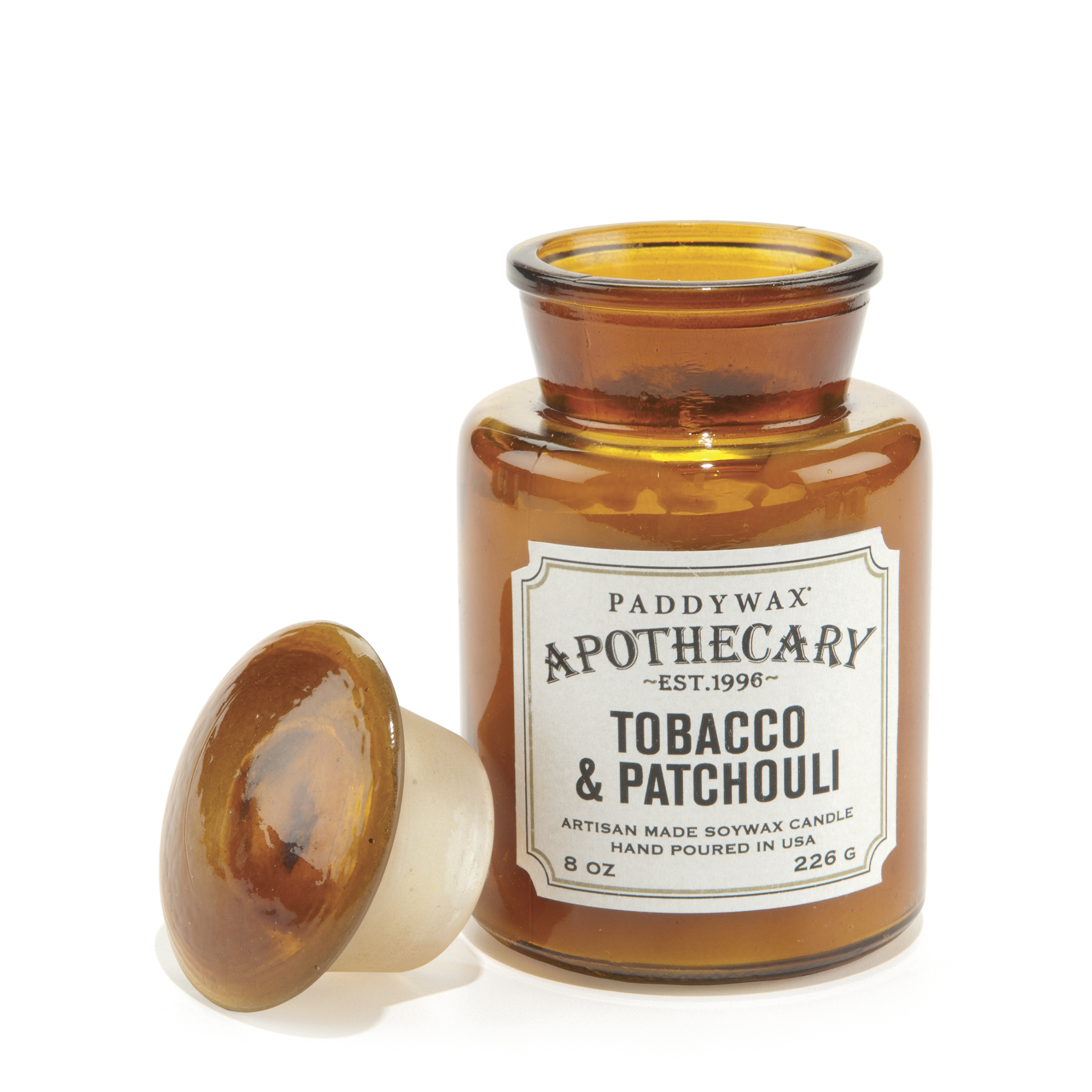 Купить PADDYWAX Свеча TOBACCO & PATCHOULI в аптекарской баночке, Свеча TOBACCO & PATCHOULI в аптекарской баночке