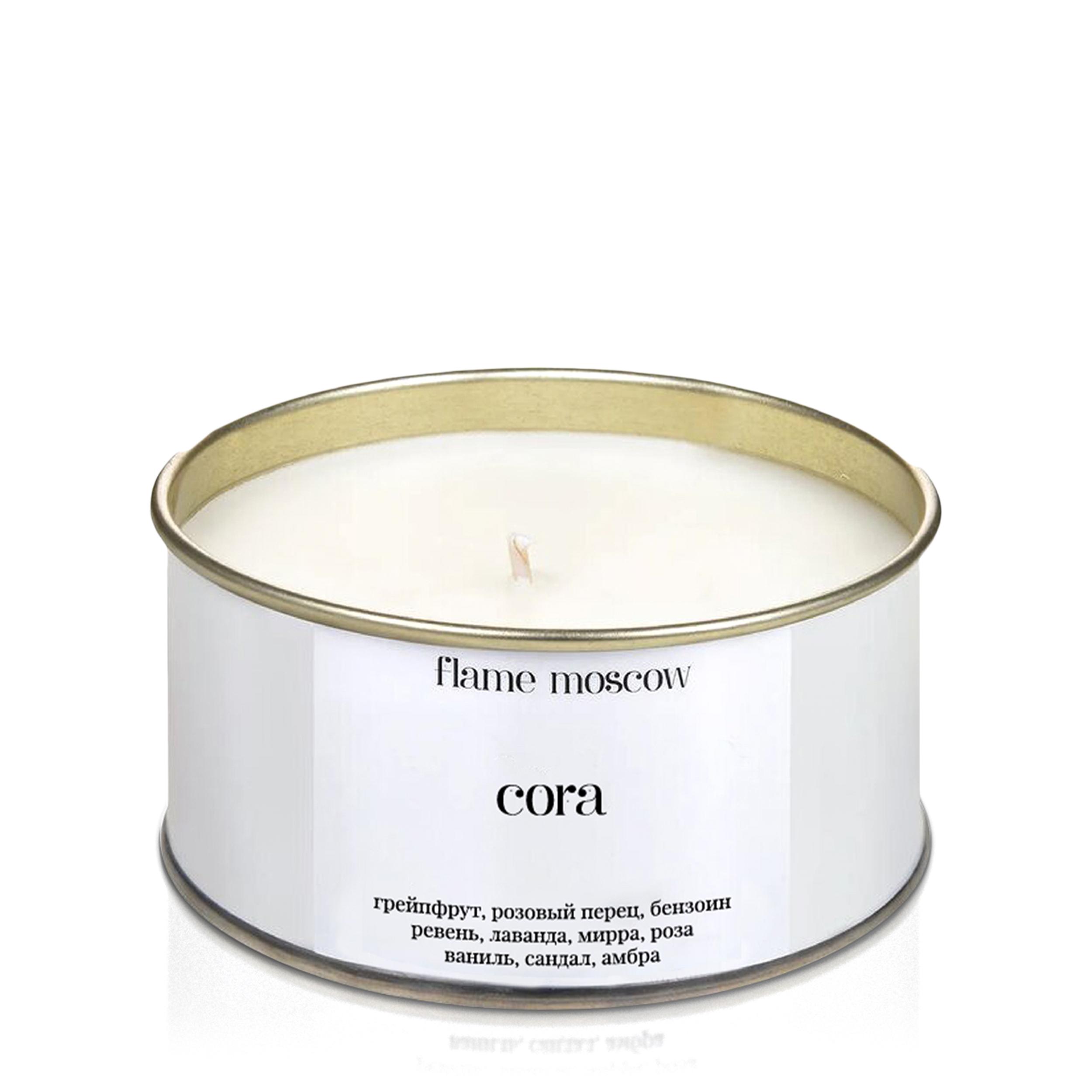 Купить Flame Moscow Ароматическая свеча в металле «Cora»